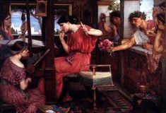 "John William Waterhouse, ""Penelope Weaving"""