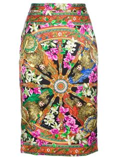 DOLCE & GABBANA - Patterned pencil skirt