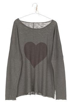 camiseta HEART gris oscuro