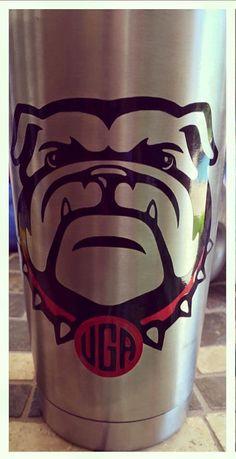 Georgia Bulldog Decal by AdriansVinyl on Etsy