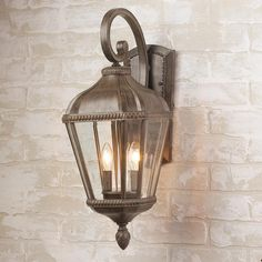 Add outdoor lights flanking sunroom French doors. Regal Rope Trimmed Outdoor Wall Lantern