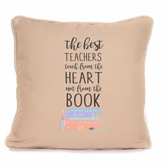 Personalised Thank You Teacher Gift Cushion 'Teach From The Heart' Best Teacher Gift. The perfect gift for your favourite teacher, teaching assistant, nursery teacher, nursery assistant , babysitter or childminder. Thank You Teacher Gifts, Best Teacher Gifts, Teacher Favorite Things, Your Teacher, Nursery Assistant, Nursery Teacher, Cushions, Teaching, Heart