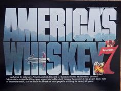 Seagram s Seven Whiskey  vintage print ad  color illustration  America s Whiskey   Magazine Art