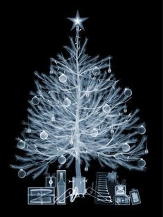 Christmas Past? X-Ray Image of Christmas Tree and Presents by Nick Veasey