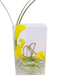 Simplicity by @Cactus Flower, modern #callas in rectangle vase, $49.99
