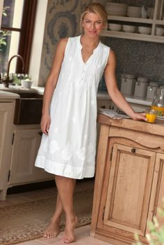 looks comfy (Giselle Gown - Night Gowns, Sleepwear & Robes, Clothing Simple Dresses, Casual Dresses, Fashion Dresses, Summer Dresses, Woman Dresses, Cotton Gowns, Pajamas Women, Linen Dresses, Nightwear