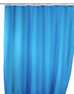 Der klassische Anti-Schimmel Duschvorhang in blau ist aus 100% Polyester und mit einem sensationellen Anti-Schimmel-Effekt ausgestattet, sowie antibakteriell beschichtet. Gesehen für € 24,99 bei kloundco.de.