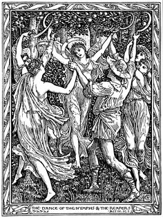 "Walter Crane's illustration to William Shakespeare's ""The Tempest"" Walter Crane, Book Illustration, Illustrations, Antique Illustration, Fairytale Art, Fairytale Drawings, Pop Art, Art Moderne, Oeuvre D'art"