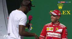 Sebastian Vettel and Ussain Bolt, USGP, Austin, Texas 2017 #gif