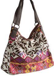 Hippy Bag~Ethnic Print Shoulder Bag Hippy Patterned Canvas Bag~Fair Trade by Folio Gothic Hippy SB253