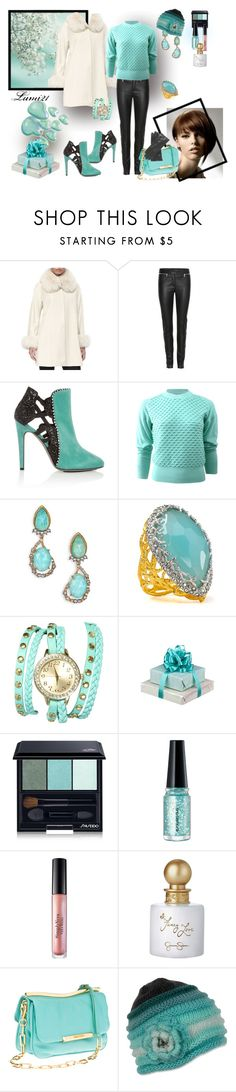 """""""mint in winter"""" by lumi-21 ❤ liked on Polyvore featuring Belle Fare, Alexander McQueen, Aperlaï, 3.1 Phillip Lim, Alexis Bittar, Wet Seal, Shiseido, shu uemura, Simply Vera and Jessica Simpson"""