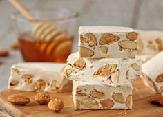 Homemade Torrone Recipe . honey . orange and almond flavors. Oooh i wanna try!