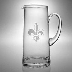Susquehanna Glass Fleur-de-Lis Collection Glass Tankard Pitcher