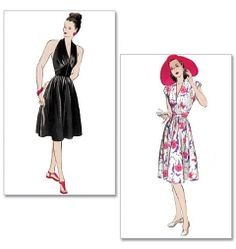 Butterick 5209 Womens Misses Juniors 1950s Vintage Retro Dress Sewing Pattern @Timothy Eccleston Travel Costumes