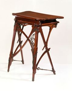 Hector Guimard Desk - 1895 - by Hector Guimard (French, 1867-1942) - The Victoria  Albert Museum -  Art Nouveau .
