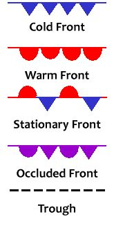 Warm Front Symbol Weather Map.21 Best Weather Images Map Symbols Weather Blue Prints