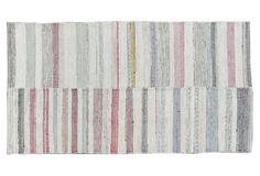 Cotton Kilim Rug, 4'