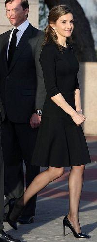 Queen Letizia attends the funeral of the Infanta Alicia. 29 Mar 2017