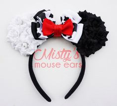Inspired Cruella Deville Rose Mouse Ears by MistysMouseEars