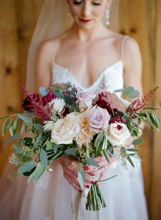 Flowers by Lace and Lilies, Winter Park Colorado wedding, fall color palette, burgundy, blush, peach and lavender bouquet