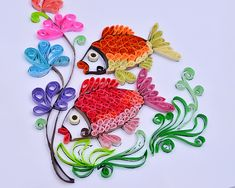 DIY Paper Quilling Paper Decor Pressure Relief Gift – low-priced items from all over the world. Quilling Set, Quilling Birthday Cards, Paper Quilling Designs, Quilling Flowers, Quilling Patterns, Quilling Ideas, Quilling Dolls, Diy Origami, Origami Paper