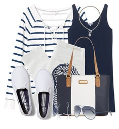 Spring Nautical by brendariley-1 on Polyvore featuring polyvore, fashion, style, Splendid, Nobody Denim, Keds, Marc Fisher, Majorica, Bling Jewelry, Natasha Couture, Orlebar Brown and clothing