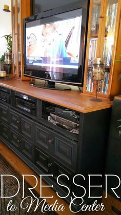 How to turn a Dresser into a Media Center #TriplePFeature
