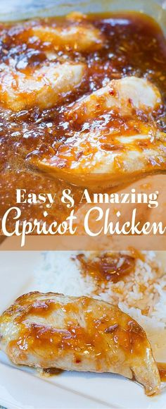 This apricot chicken recipe is one of my FAVORITE recipes ever - and it's so easy, too!