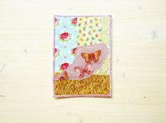 Greeting card birthday card patchwork quilted by poppyshome