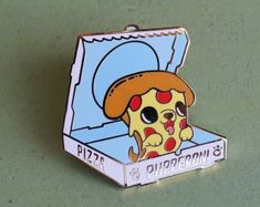 Add some adorable flare to your outfits or your pin board with the Too Cute To Eat collection brought to you by Linda Panda! The Pupperoni Lapel Pin would love to join you for all your delicious pizza endeavors! Jacket Pins, Cool Pins, Pin And Patches, Metal Pins, Stickers, Pin Badges, Lapel Pins, Pin Collection, Just In Case