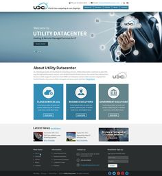 Utility Datacenter Website by Saturn-X