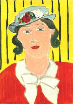 Hat with Roses 1935. Henri Matisse