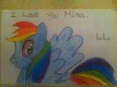 Mina's rainbow dash