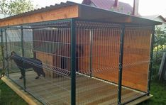 Outdoor Dog Area, Outdoor Dog Runs, Dog Cage Outdoor, Dog Kennel Outside, Diy Dog Kennel, Diy Dog Run, Canis, Dog Kennel Designs, Dog House Plans