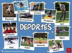 Vocabulario de los deportes. have students make a collage of their favorite sports and label is as a project