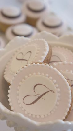 monogram cookies by sweet bloom cakes
