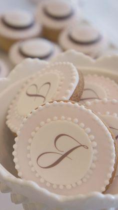 monogram cookies by sweet bloom cakes