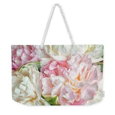 Pink Peony Weekender Shoulder Bag for Women. Large Beach Weekend and overnight tote bag with Blooming Flowers Large Weekender Shoulder Bag Reusable Shopping Bags, Reusable Bags, Pink Peonies, Peony, Weekender Tote, Blooming Flowers, Luxury Handbags, Shoulder Bag, Floral