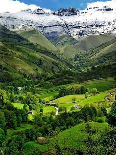 Cantabria, Spain I was there a couple years ago on an archaeological dig, it was an amazing landscape.