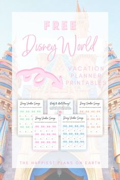 Save for your next Disney Vacation with this FREE Disney World Planning Printable Vacation Savings Tracker. There are four fun different template designs that will make saving for your next Disney trip even more magical! You will receive this freebie and many more when you subscribe to The Happiest Plans on Earth Mailing List! 📝#disneyfreebie #disneyprintable #disneyworld #disneyland #waltdisneyworld #disneyplanning #disneysaving #disneytips #disneytricks #disneyparks #disneyvacation