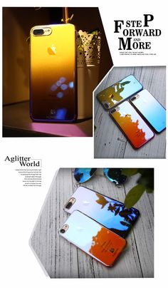 $3---FLOVEME For iPhone 6 6S Plus Case Ultra Thin Gradient Blue-Ray Light Case For Apple iPhone 7 7 Plus Clear Accessories Cover Capa