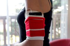 An old tube sock as a workout armband? Get the steps to make this super-easy (and very comfy!) accessory that stores your phone while you sweat it out.