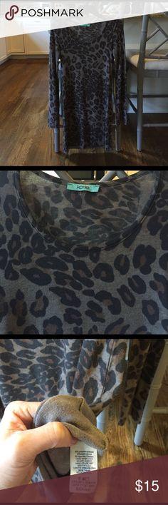 Karlie Leopard Print Long Sleeve Sweater Dress Karlie brand leopard long sleeve sweater dress. Never worn. Nordstrom Dresses Long Sleeve