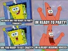 And you're partners in crime when you go out. | 27 Signs You And Your BFF Might Actually Be Spongebob And Patrick