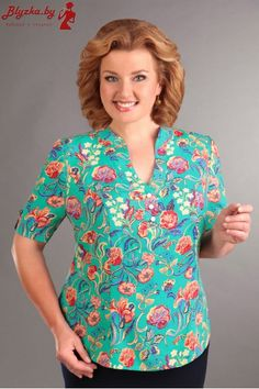 Блузка женская AL-989 Blouse Styles, Blouse Designs, Clothing Patterns, Dress Patterns, African Fashion Dresses, Fashion Outfits, Big Girl Fashion, Womens Fashion, Sewing Blouses