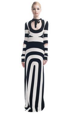 Time to order your stripes for Spring/Summer - love the Marc Jacobs Cutout Jersey Panelled Dress in Black