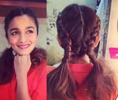Style Diva Alia Bhatt hairstyles are always full of shine, volume, and so much glamor. Every Woman in this world wants to try her hair style look. Open Hairstyles, Easy Hairstyles For School, Popular Hairstyles, Hairstyles Haircuts, Summer Hairstyles, Straight Hairstyles, Creative Hairstyles, Beautiful Hairstyles, Wedding Hairstyles