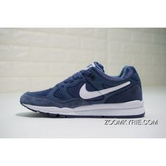 online retailer a313a b1437 Nike Air Span II AH8047-400 Low Mens Retro Running Shoes Lifestyle Sneakers  Dark Blue White New Year Deals