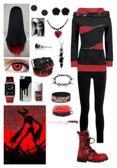 Creepypasta: Daughter of Zalgo Cute Emo Outfits, Punk Outfits, Teen Fashion Outfits, Gothic Outfits, Anime Outfits, Girl Outfits, Disney Fashion, Fashion Tips, Casual Cosplay
