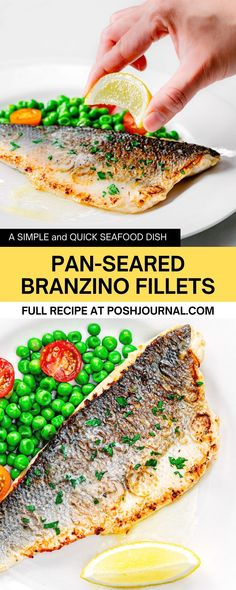 This pan-seared branzino is just so good, seems like everyone young and old is a fan of it! A quick and easy dinner recipe to make on any weeknight or a special day like Valentine's #recipe #fish #branzino Best Seafood Recipes, Healthiest Seafood, Shellfish Recipes, Easy Cheap Dinner Recipes, Easy Healthy Dinners, Easy Recipes, Fancy Dishes, Crazy Kitchen